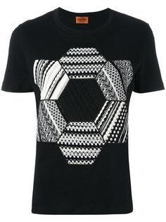 футболка с трикотажными заплатками Missoni