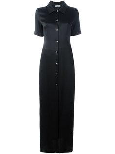 длинное платье-рубашка с короткими рукавами Area