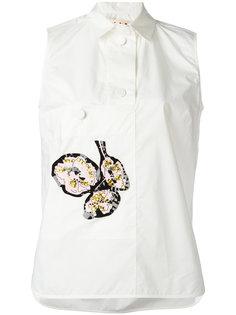 рубашка с аппликацией без рукавов Marni