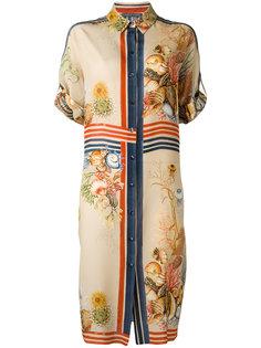 платье-рубашка с принтом ракушек Alberta Ferretti