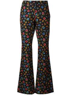 расклешенные брюки с узором Moschino