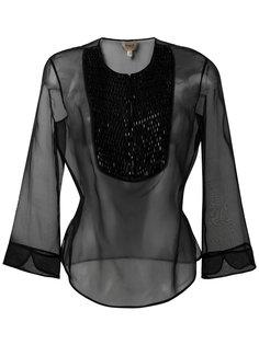 полупрозрачная блузка с рукавами три четверти Armani Collezioni