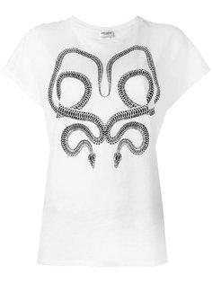 футболка с принтом змей Saint Laurent