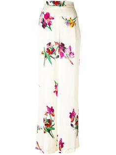 широкие брюки с цветочным принтом Etro