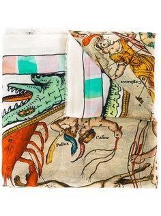 шарф с принтом Point  Faliero Sarti