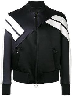 куртка бомбер с панельным дизайном Neil Barrett