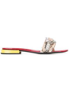 открытые сандалии с тисненым узором Toga Pulla