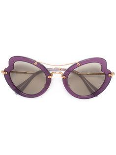 солнцезащитные очки в волнистой оправе Miu Miu Eyewear