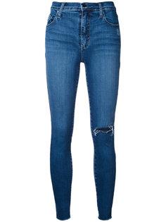 укороченные облегающие рваные джинсы Cult Nobody Denim