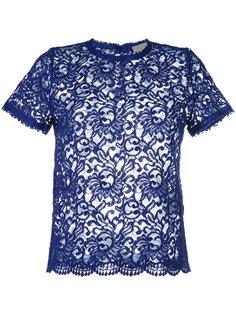 кружевная футболка Erika Cavallini
