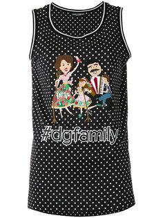 топ с нашивкой #dgfamily Dolce & Gabbana