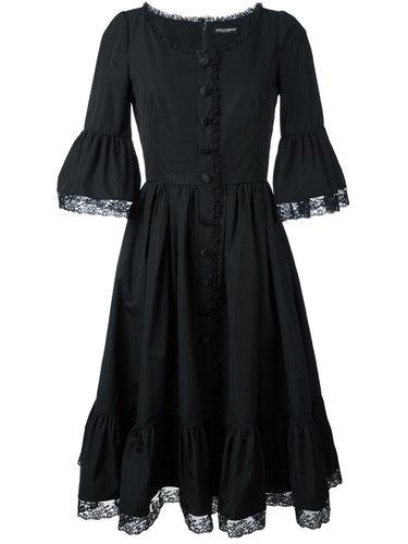 платье с кружевной окантовкой Dolce & Gabbana