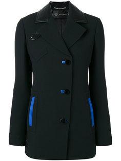 пиджак с контрастной деталью Versace