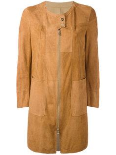 пальто лоскутного кроя с кнопочной застежкой  Sylvie Schimmel
