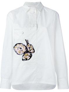 рубашка с цветочной вышивкой Marni