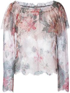 кружевная блузка с цветочным узором Philosophy Di Lorenzo Serafini