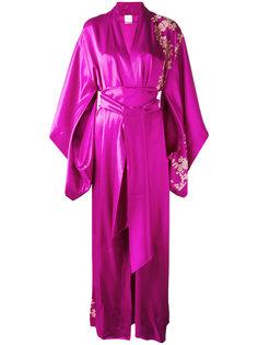 длинное кимоно с кружевом Carine Gilson