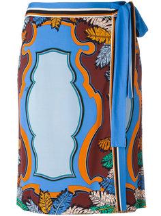 юбка с запахом и орнаментом Emilio Pucci