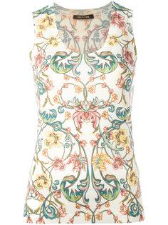 топ с цветочным принтом Roberto Cavalli