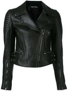 байкерская куртка на молнии Tom Ford
