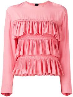 блузка с оборками и длинными рукавами Marni