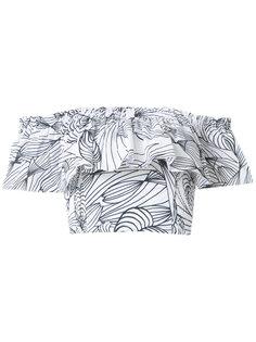 printed ruffle blouse Isolda