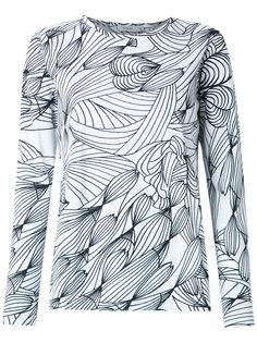 graphic print blouse Isolda