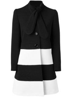 пальто длины миди с завязками на шее Boutique Moschino