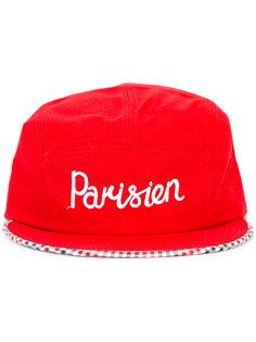 кепка с вышивкой parisien  Maison Kitsuné