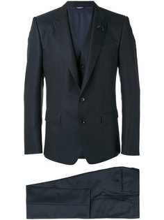 костюм-тройка с узором Dolce & Gabbana