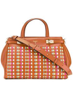 сумка-тоут с плетеными элементами Serapian
