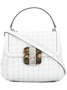 сумка-сэтчел с фактурной поверхностью Serapian