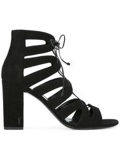 гладиаторские сандалии на каблуке Saint Laurent
