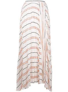 юбка миди А-образного силуэта в полоску Forte Forte