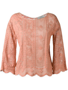 трикотажная блузка с фестонами Forte Forte