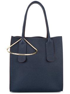 сумка-тоут с золотистой деталью Roksanda