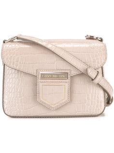сумка на плечо с эффектом крокодиловой кожи Givenchy