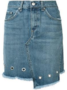 джинсовая юбка с люверсами Rag & Bone /Jean