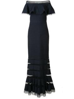 вечернее платье с открытыми плечами Tadashi Shoji