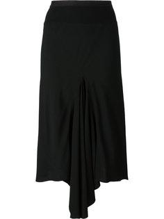 асимметричная юбка с драпировкой Rick Owens