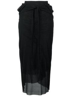 прозрачная юбка с поясом Rick Owens