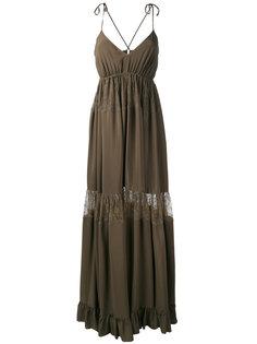 платье макси с кружевной вставкой Nº21