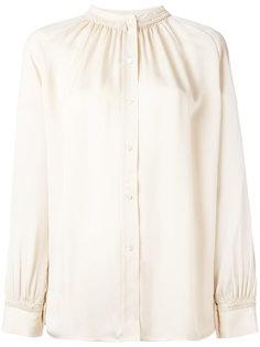 блузка с плиссированной горловиной Vince