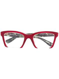 очки в прямоугольной оправе Miu Miu Eyewear