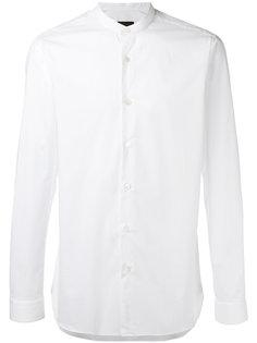 рубашка с воротником-стойка Z Zegna