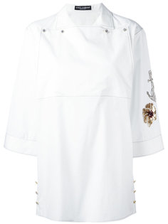 рубашка с вышивкой на рукаве Dolce & Gabbana