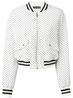 куртка бомбер в горох Dolce & Gabbana