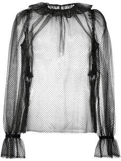 прозрачная блузка с оборками Dolce & Gabbana