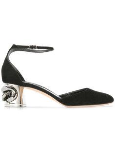 туфли на контрастном каблуке Casadei