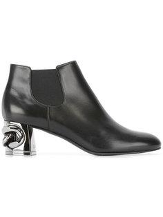 ботинки челси с цепью на каблуке Casadei